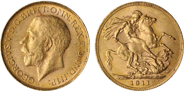 Australia, George V, Sovereign, 1911-P