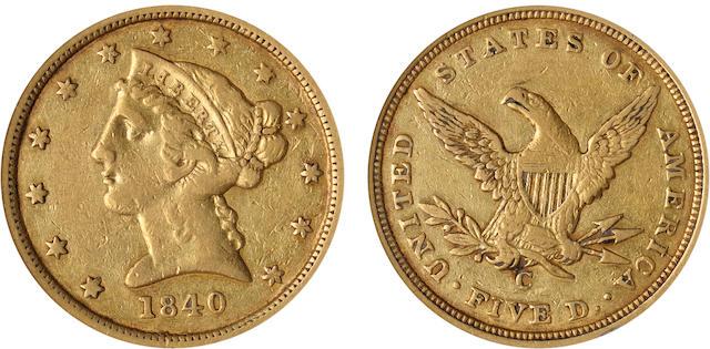 1840-C $5 VF25 PCGS