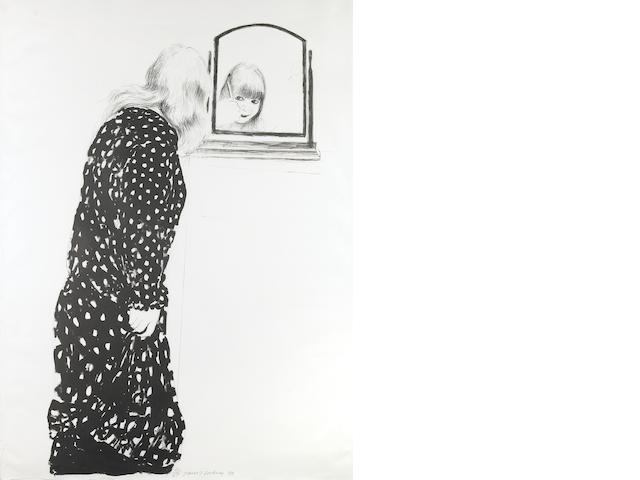 David Hockney (British, born 1937); A lot more of Ann combing her hair;