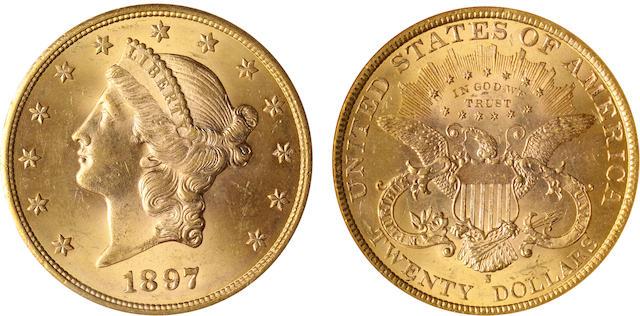1897-S $20 MS64 NGC