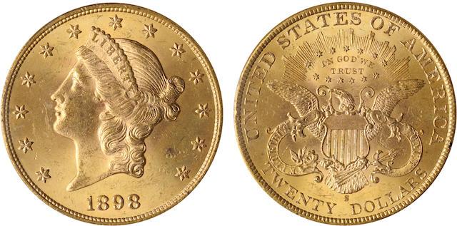 1898-S $20 MS64 PCGS