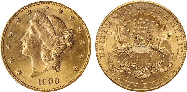 1900-S $20 MS63 PCGS