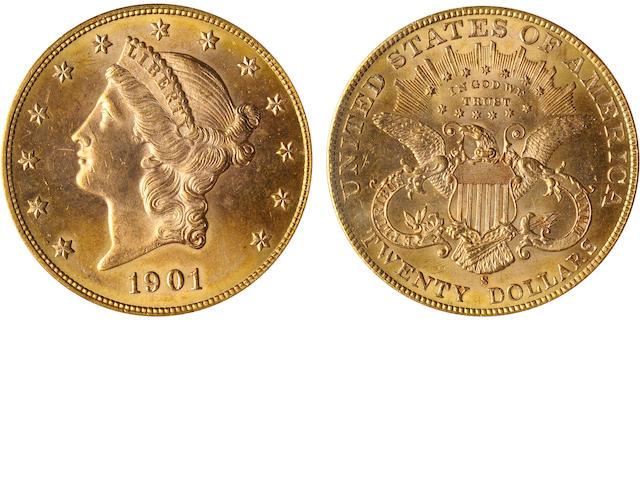 1901-S $20 MS64 PCGS
