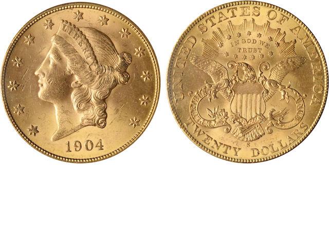 1904-S $20 MS64 PCGS
