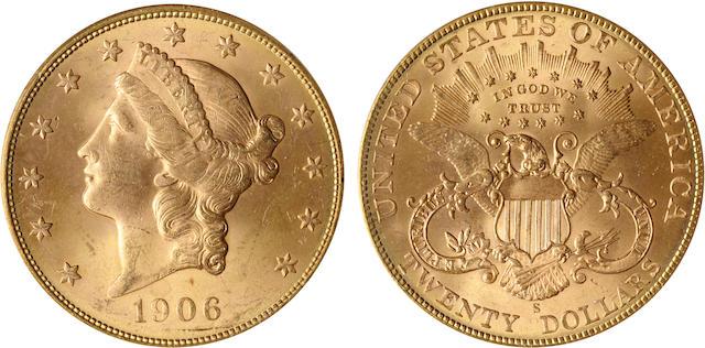 1906-S $20 MS64 PCGS