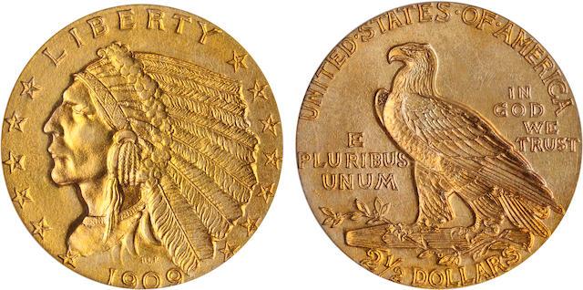 1909 $2.5 MS64 PCGS
