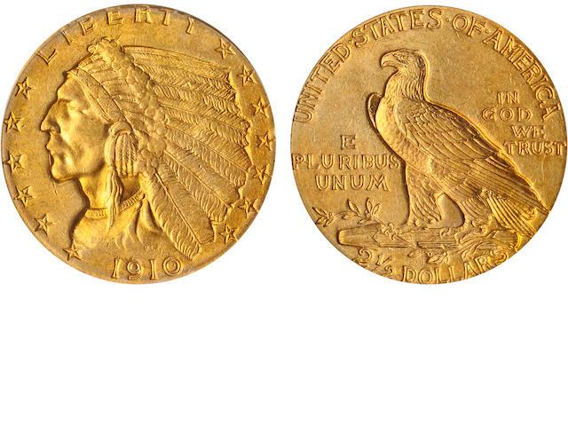 1910 $2.5 MS64 PCGS