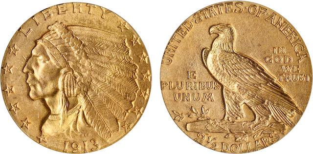 1913 $2.5 MS64 PCGS