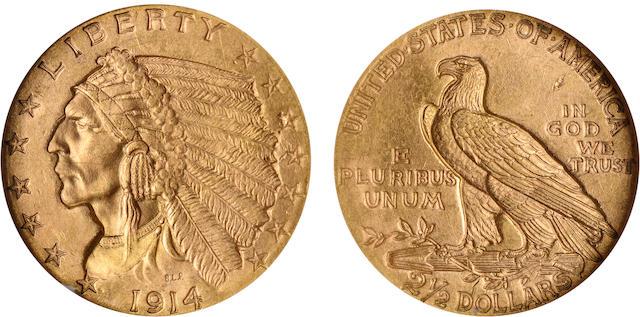 1914 $2.5 MS64 NGC