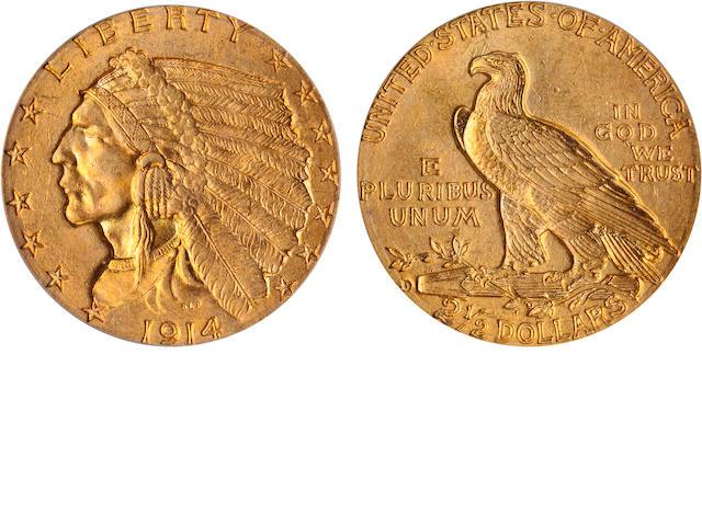 1914-D $2.5 MS64 PCGS