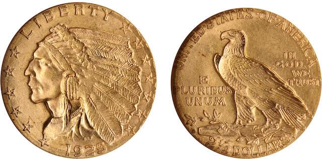 1925-D $2.5 MS64 NGC
