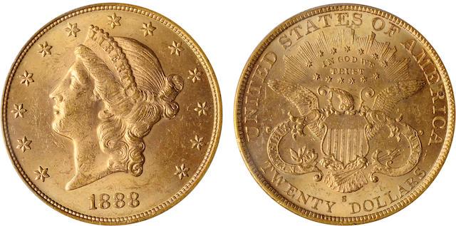 1888-S $20 MS63 PCGS