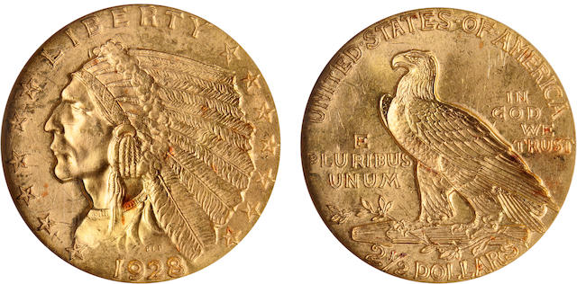 1928 $2.5 MS64 NGC