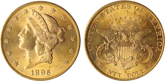 1896-S $20 MS63 PCGS