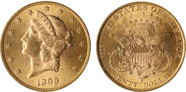 1899-S $20 MS63 NGC