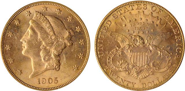1905-S $20 MS63 PCGS