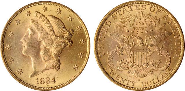 1884-S $20 MS63 PCGS