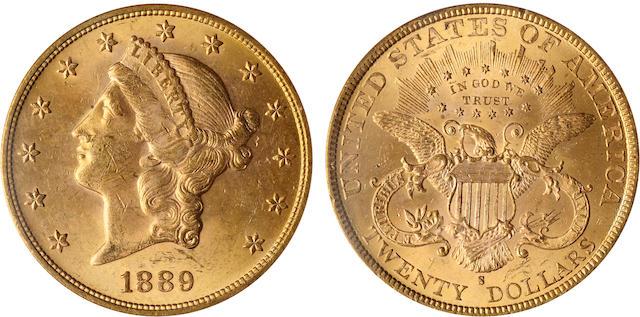 1889-S $20 MS63 PCGS