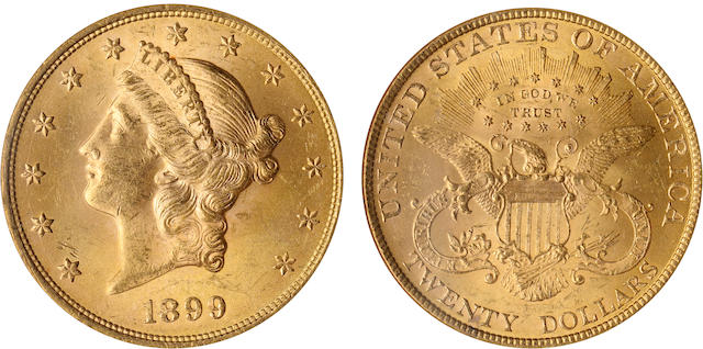 1899 $20 MS63 NGC
