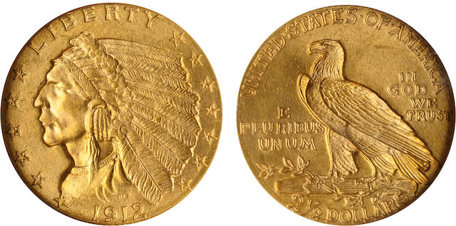 1912 $2.5 MS65 NGC