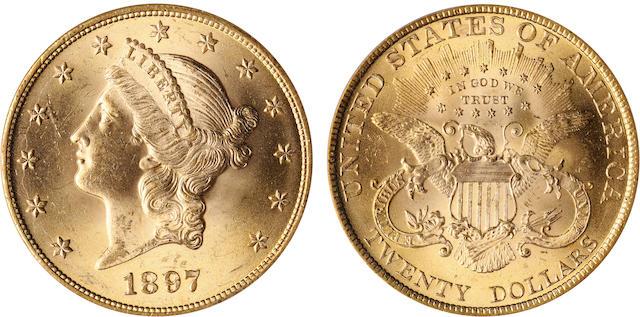 1897 $20 MS64 PCGS