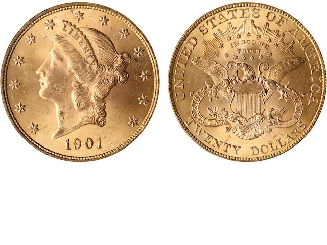 1901 $20 MS65 NGC