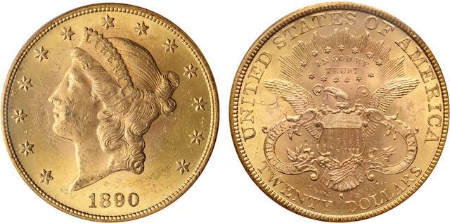 1890-S $20 MS63 PCGS