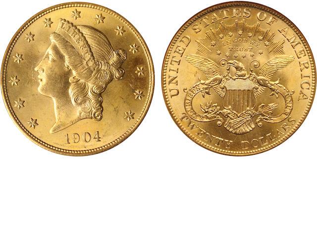 1904 $20 MS65 NGC