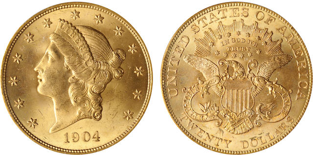 1904 $20 MS65 PCGS