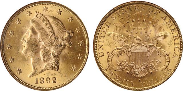 1892-S $20 MS63 NGC