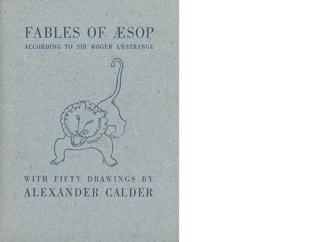 CALDER, ALEXANDER. 1898-1976. Fables of Aesop, according to Robert L'Estrange. Paris: Harrison of Paris, [1931].<BR />