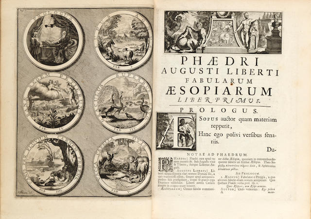 VAN VINGEN, J., illustrator. Fabularum Aesopiarum.... Amsterdam: Franciscus Halma, 1701.