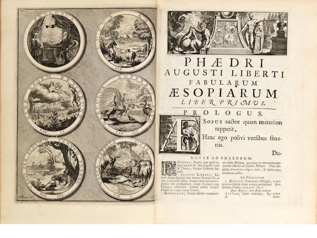 VAN VINGEN, J., illustrator. Fabularum Aesopiarum.... Amsterdam: Franciscus Halma, 1701.<BR />