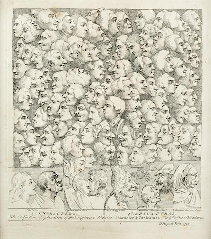 HOGARTH, WILLIAM. 1697-1764. Characters ... Caricaturas. [London: 1743, but later.]