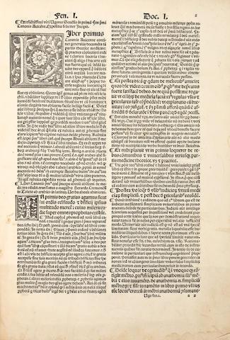 BENZI, UGO SENENSIS. 1360-1439. Expositio ... in primam fen primi Canonis Avicenne. Venice: Heirs of Octavian Scotus, 1517.
