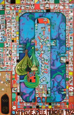 Friedensreich Hundertwasser (Austrian, 1928-2000); Olympische Spiele München;