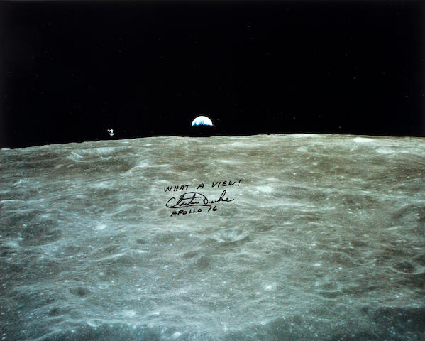 WHAT A VIEW—APOLLO 16. Color photograph,