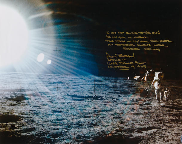 THE BLINDING SUN—APOLLO 12. Color photograph,