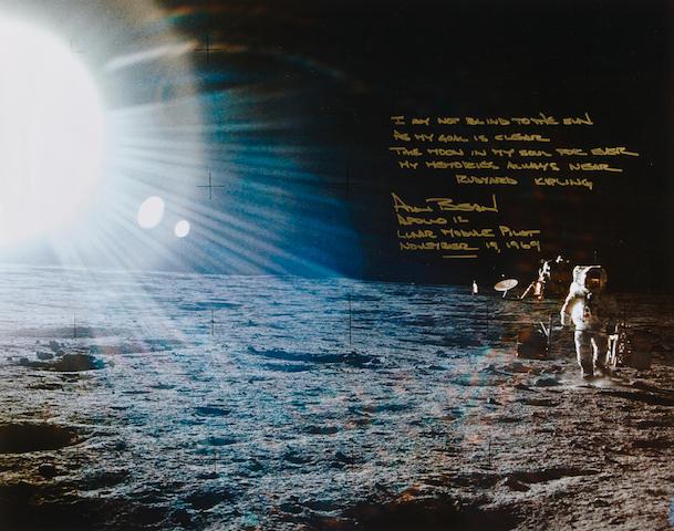 THE BLINDING SUN—APOLLO 12. Color photograph,