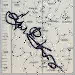 MERCURY-ERA STAR CHART. Double-sized star chart, 10 x 3½ inches,
