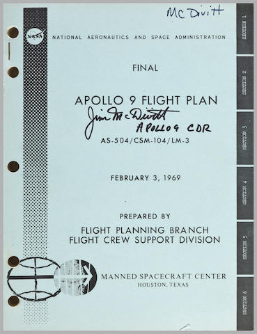 THE PLAN FOR THE FIRST MANNED LM FLIGHT. Final Apollo 9 Flight Plan, AS-504/CSM-104/LM-3. Houston, TX: NASA/MSC, February 3, 1969.