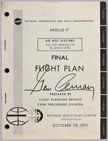 THE LAST APOLLO FLIGHT PLAN. Apollo 17 ... Final Flight Plan. Houston, TX: NASA/MSC, October 23, 1972.