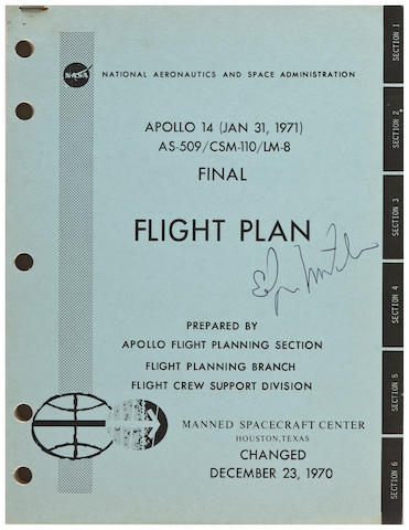 FINAL FLIGHT PLAN—APOLLO 14. Apollo 14 (Jan 31, 1971) AS-509/CSM-110/LM-8 Final Flight Plan. Houston, TX: NASA/MSC, Changed December 23, 1970.
