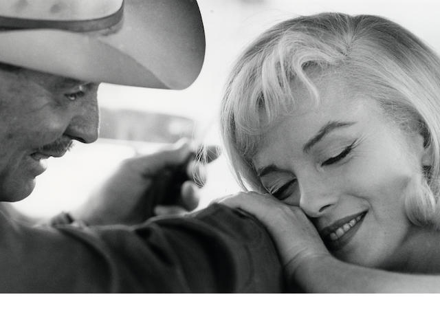 Cornell Capa, Marilyn Monroe and Clark Gable, Nevada Desert, 1960, Gelatin silver print, 16 x 20 inches, Signed, titled & dated in ink on verso with the photographer's stamp