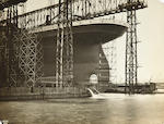 [TITANIC] A pair of photographs of the ship under construction<BR /> circa 1911 6 x 8 in. (15.2 x 20.3 cm.) each. 2