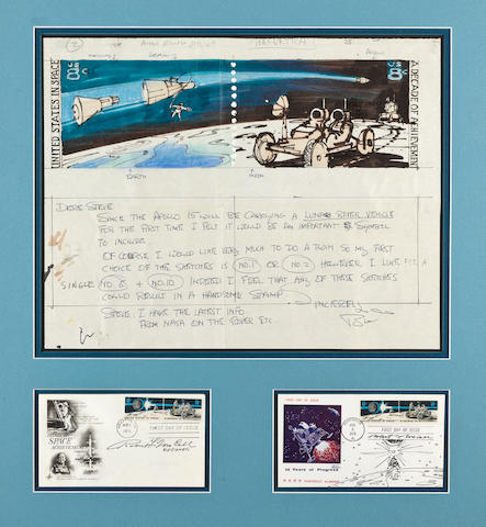 Apollo 15 Postage Stamp mock-up
