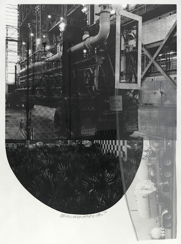 Robert Rauschenberg (American, 1925-2008); Tracks, from Stoned Moon Series;