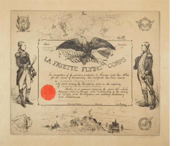 [LAFAYETTE FLYING CORPS.] [ELLIOTT, CHESTER ARTHUR. 1897-?]