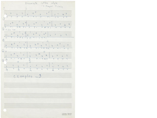 A set of Jerry Garcia handwritten lesson plans