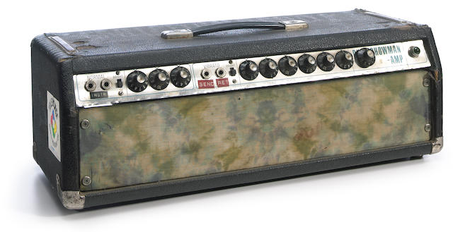 An owned and used Phil Lesh amp from the Grateful Dead's Wall of Sound with original Courtenay Pollock artwork